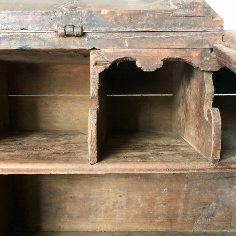 Iron Early 18th Century French Monastery Writing Desk For Sale