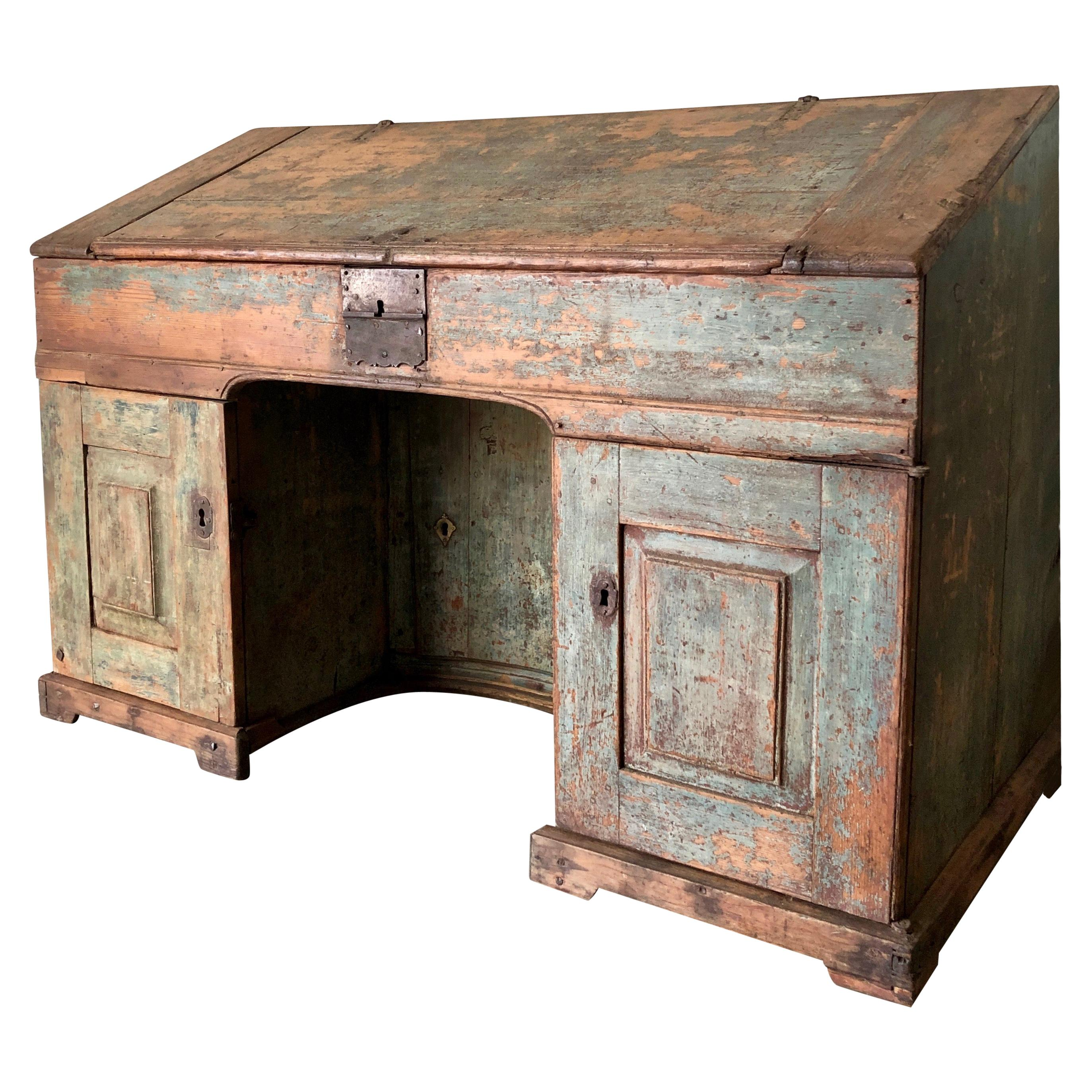 Early 18th Century French Monastery Writing Desk