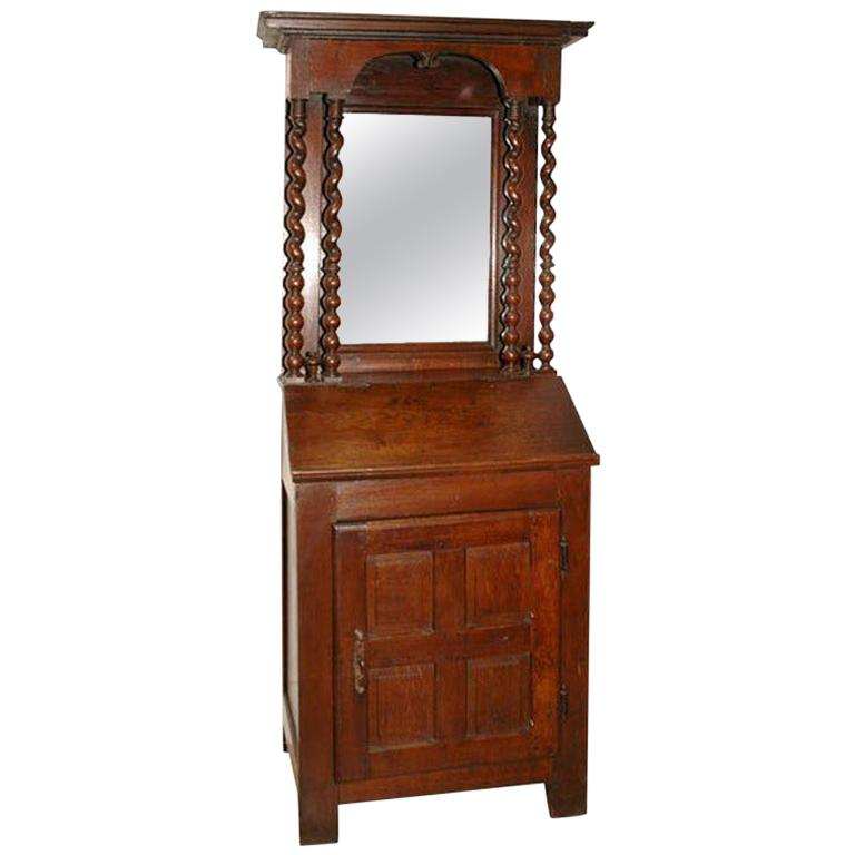 Early 18th Century French Petite Secretaire or Bureau with Projecting Cabinet For Sale