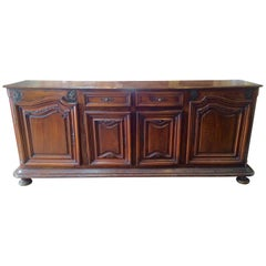 Early 18th Century French Provincial Baroque Period Walnut Buffet