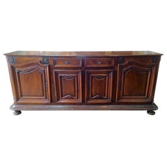 Early 18th Century French Provincial Baroque Walnut Buffet
