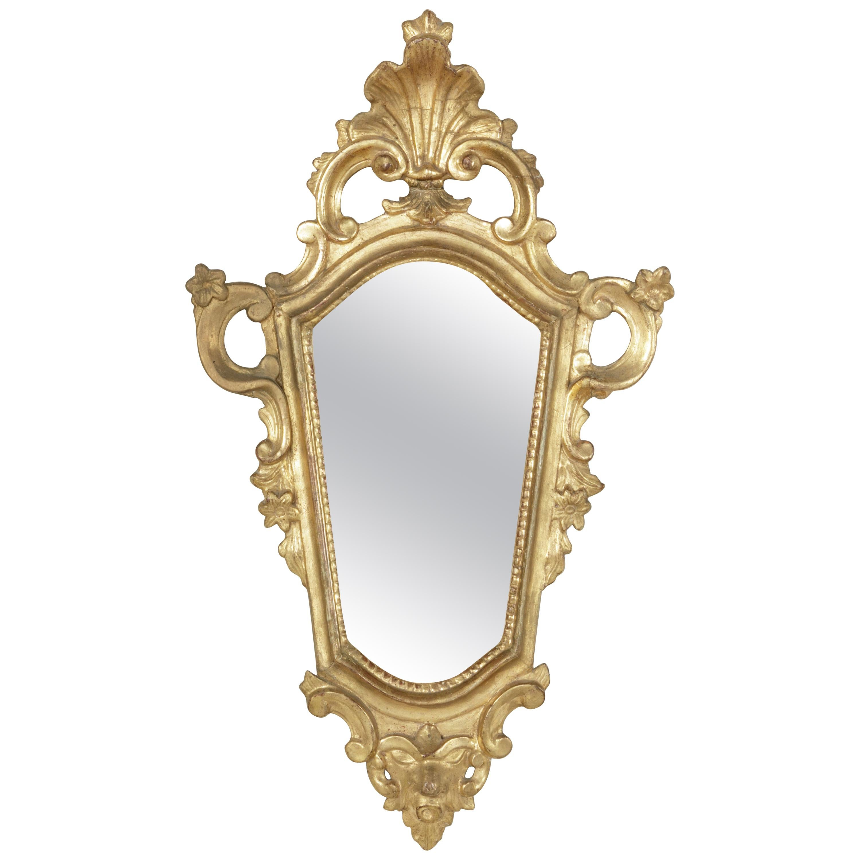 Early 18th Century French Regency Period Giltwood Mirror with Mercury Glass
