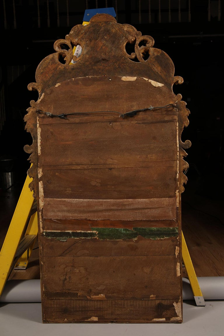 Early 18th Century German Giltwood Pier Mirror, Louis XIV Baroque Period For Sale 2
