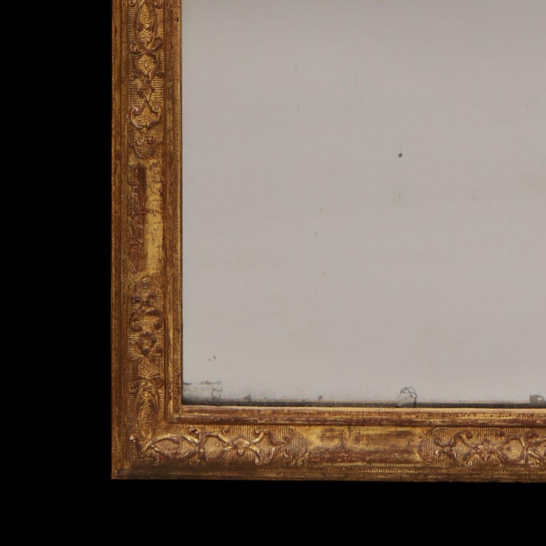 Early 18th Century German Giltwood Pier Mirror, Louis XIV Baroque Period For Sale 5