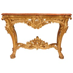 early 18th century Italian Napolitan freestanding giltwood console