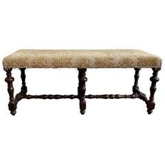 Early 18th Century Italian Walnut Bench