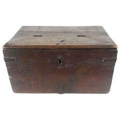Early 18th Century Italian Walnut Double Almsgiver Box
