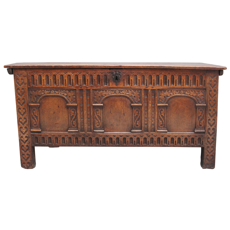 Early 18th Century Oak Coffer