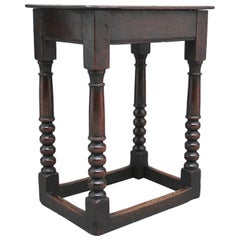 Early 18th Century Oak Joint Stool
