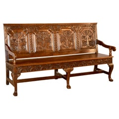 Early 18th Century Paneled Bench