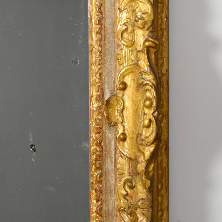 Louis XV Early 18th Century Regence Period Giltwood Mirror For Sale
