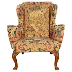 Early 18th Century Walnut Wing Chair