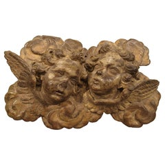 Early 18th Century Winged Putti Carving from Provence, France