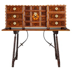 Early 18th Century Wood Marquetry German Cabinet