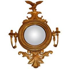 Early 19 Century English Regency Convex Mirror