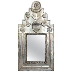 Early 1900 Mexican Metal Wall Mirror, Mexico 1905