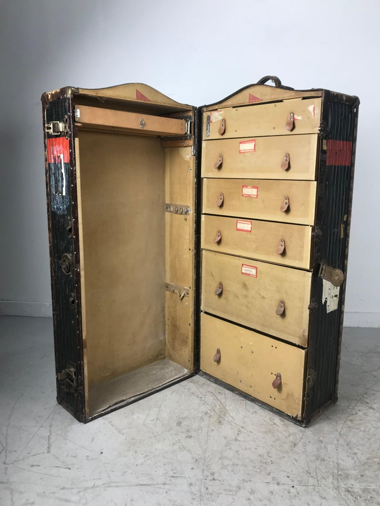 Weathered steamer trunk from