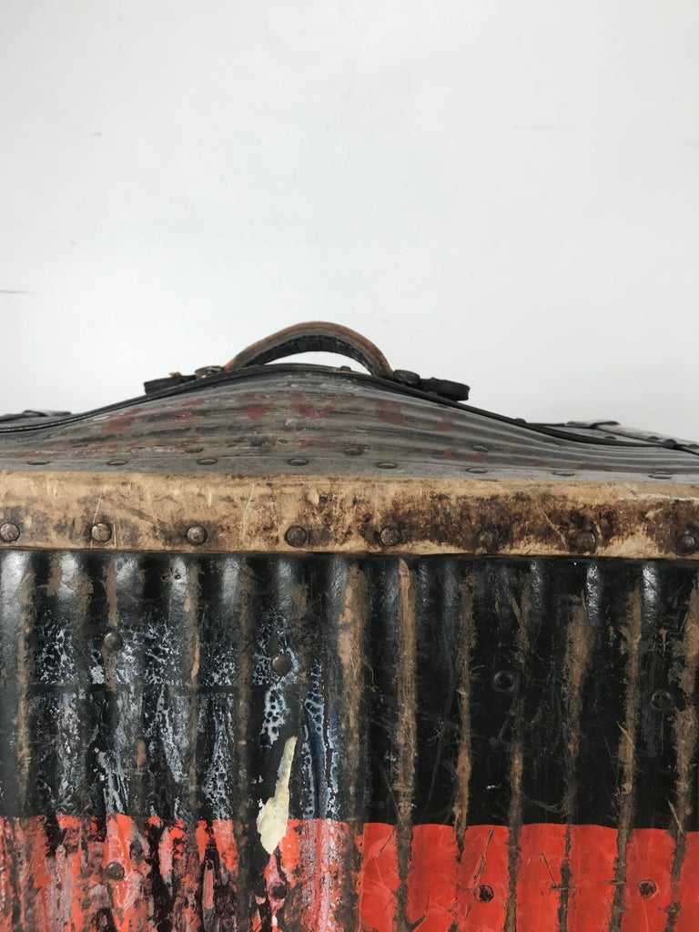 Early 1900s Antique Steamer Trunk from