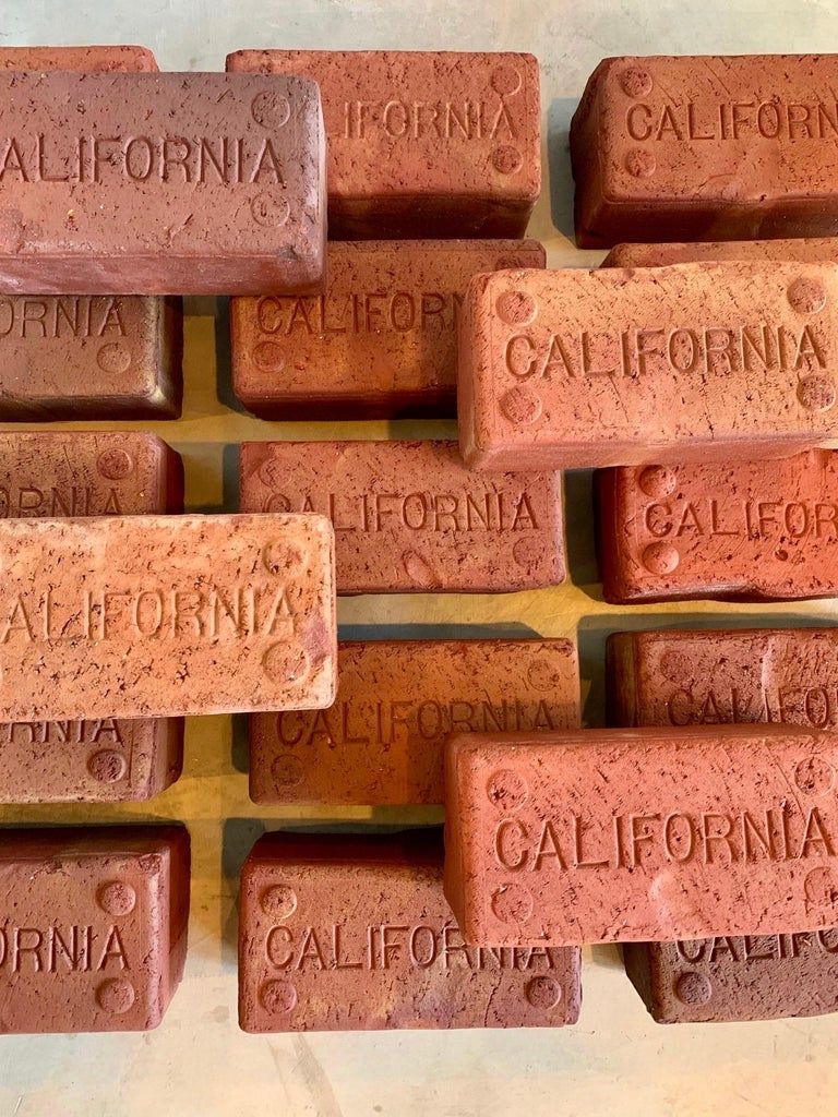 Early 1900s California Bricks In Good Condition For Sale In Los Angeles, CA