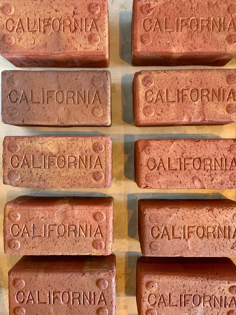 Clay Early 1900s California Bricks For Sale