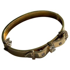 Early 1900s Diamond Buckle Bracelet by Love and Object