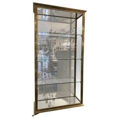 Early 1900s Elegant French Brass Wall Vitrine