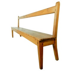 Early 1900s Folk Art Primitive Long Bench