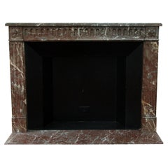 Early 1900s French Regency Carved Marble Mantel from the Waldorf Astoria