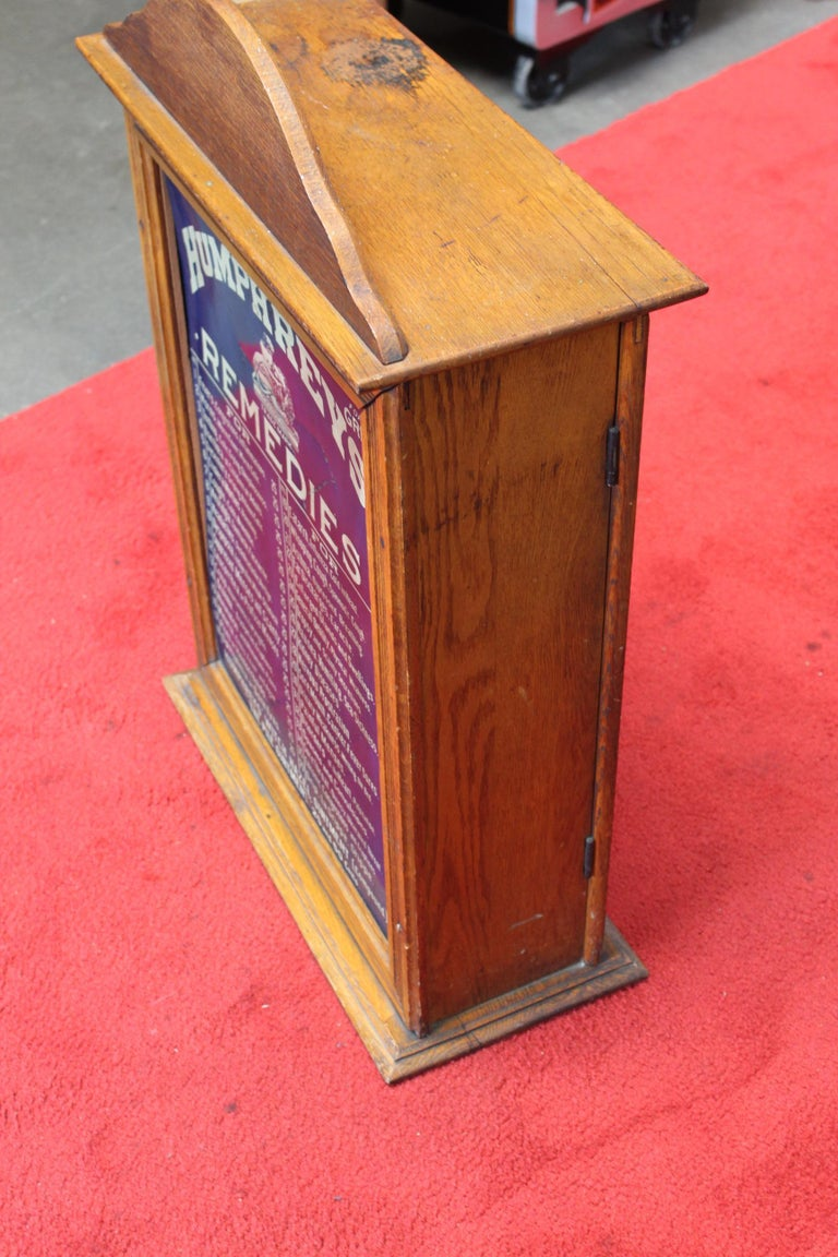 Early 1900s Humphrey's Remedies Store Display Cabinet For Sale 9