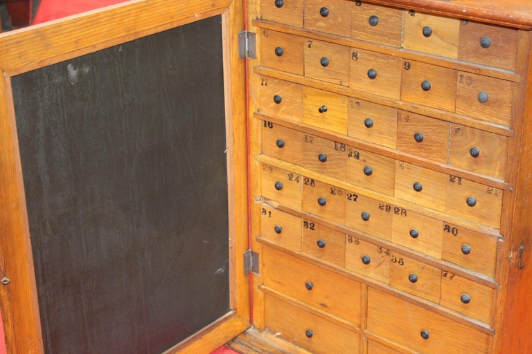 Early 1900s Humphrey's Remedies Store Display Cabinet For Sale 3