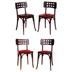 Early 1900s Jacob & Josef Kohn Secessionist Art Nouveau Chairs Set of 4