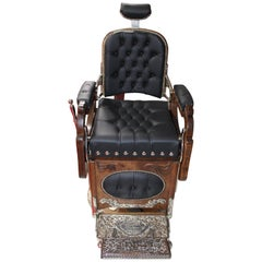 Early 1900s Koken Oak Barber Chair