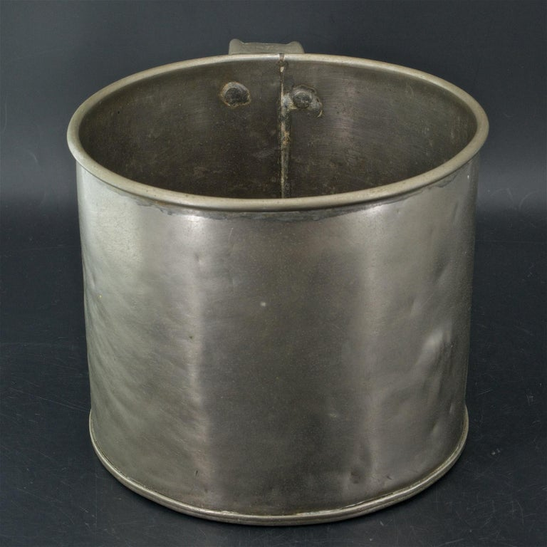 American Early 1900s Oyster House Gallon Tin Cup Baltimore Rare Chesapeake Antique For Sale