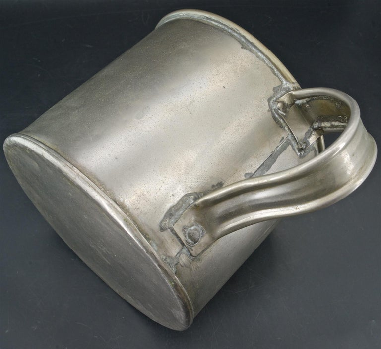 Early 20th Century Early 1900s Oyster House Gallon Tin Cup Baltimore Rare Chesapeake Antique For Sale