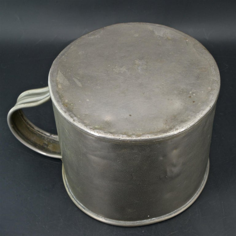 Early 1900s Oyster House Gallon Tin Cup Baltimore Rare Chesapeake Antique For Sale 1