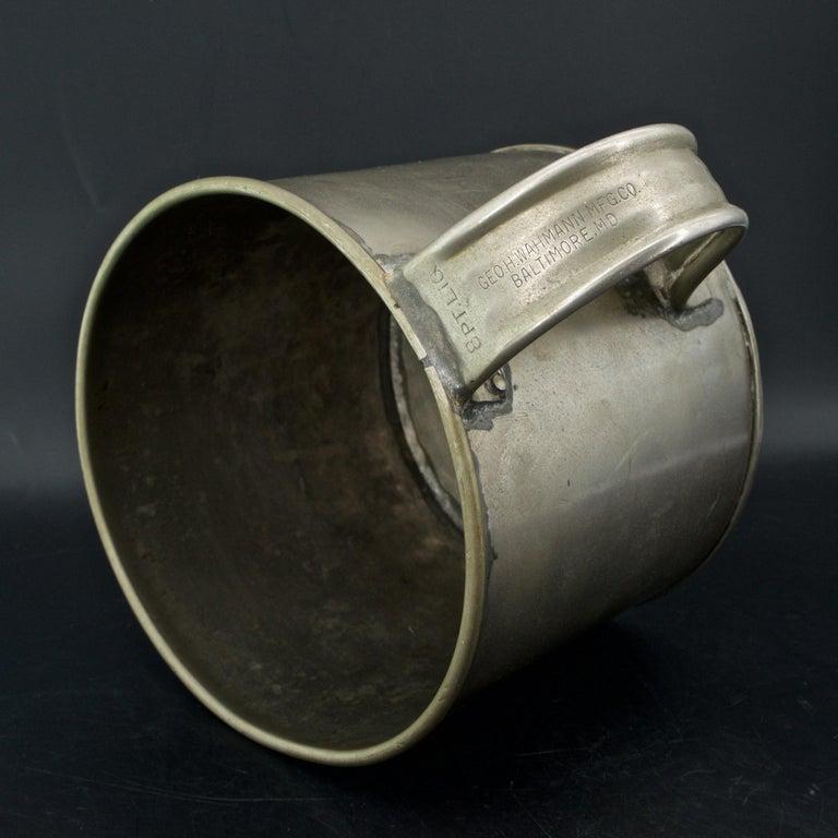An rare gallon cup for shucked Oyster measurement. Marks: 8 PT. LIQ. GEO. H. WAHMANN MFG. CO. BALTIMORE, M.D.