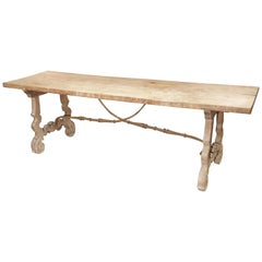 Early 1900s Single Plank Table from Spain