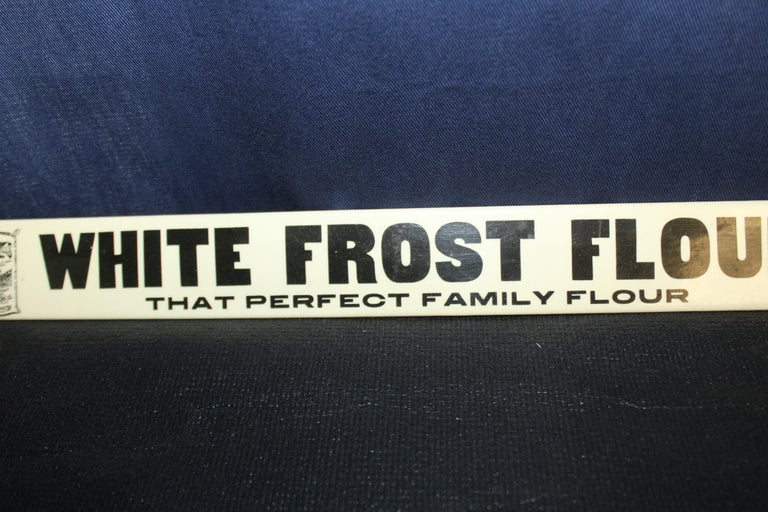 Early 1900s White Frost Flour Eagle Mills Co. Tin Advertising Sign For Sale 1