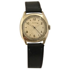 Early 1930s Rolex Bubble Back Stainless Steel with Sweep Seconds Watch