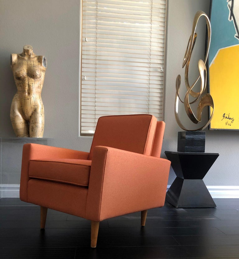 Mid-Century Modern Early 1950s Florence Knoll Lounge Chair For Sale