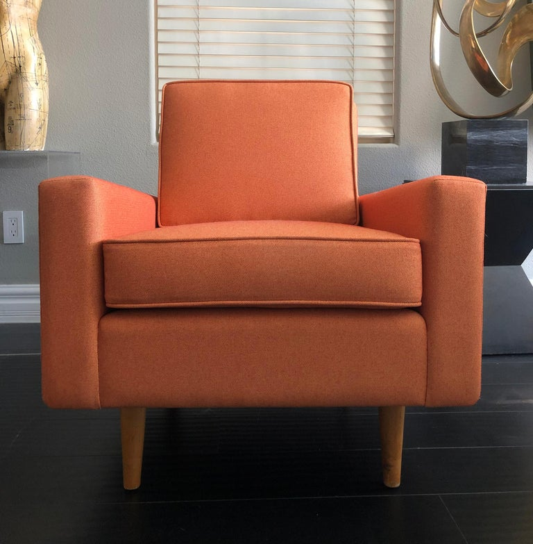 Birch Early 1950s Florence Knoll Lounge Chair For Sale