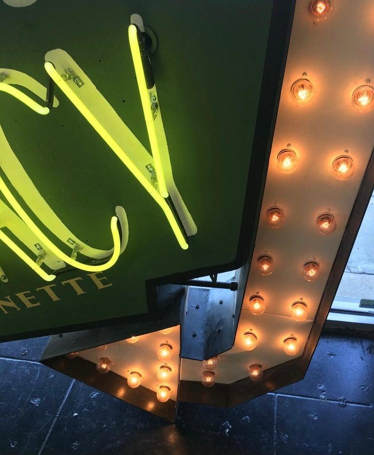Mid-Century Modern Early 1950s Lighted Neon