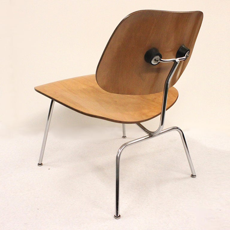 Mid-20th Century Early 1950s Mid-Century Modern Eames LCM Birch Lounge Chair by Herman Miller For Sale