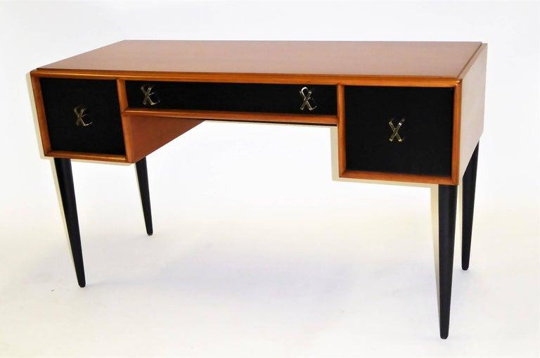 Mid-Century Modern Early 1950s Paul Frankl Desk Vanity for John Stuart Johnson Furniture For Sale