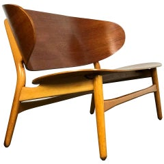 Settee Bench in Teak and Beech by Hans Wegner for Fritz Hansen