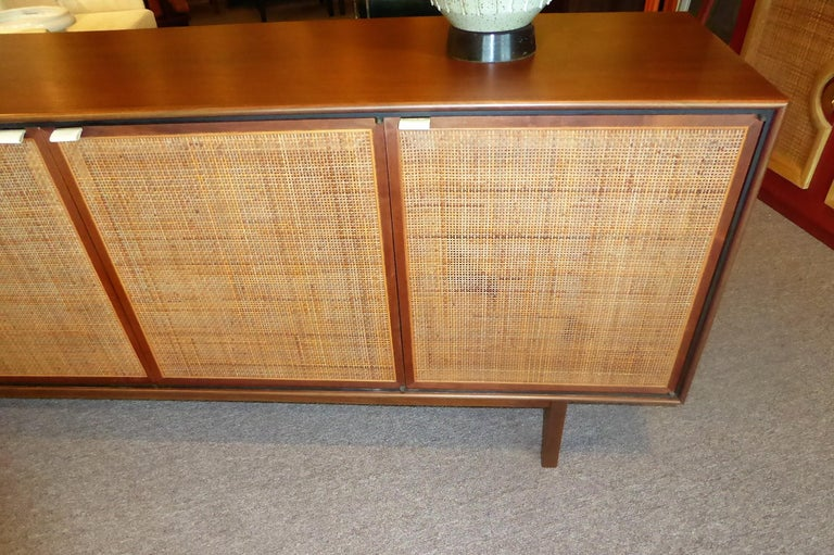 Early 1960s Founders Furniture Florence Knoll Style Walnut Credenza For Sale 4
