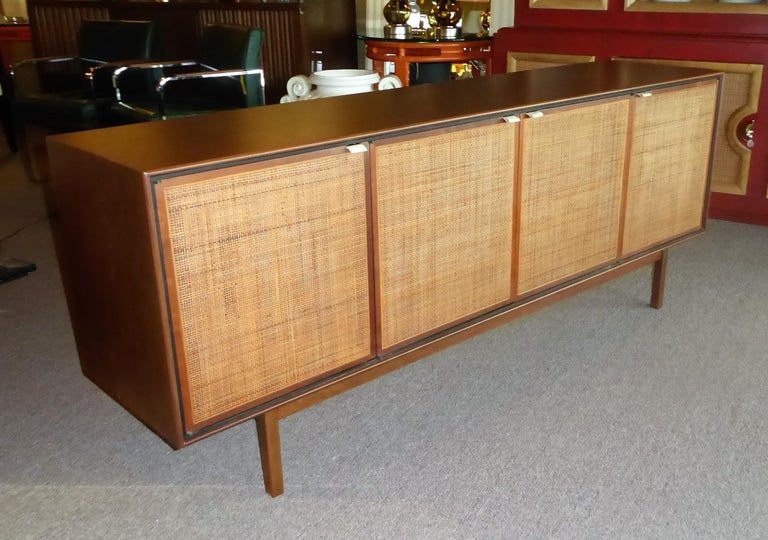 Early 1960s Founders Furniture Florence Knoll Style Walnut Credenza For Sale 11