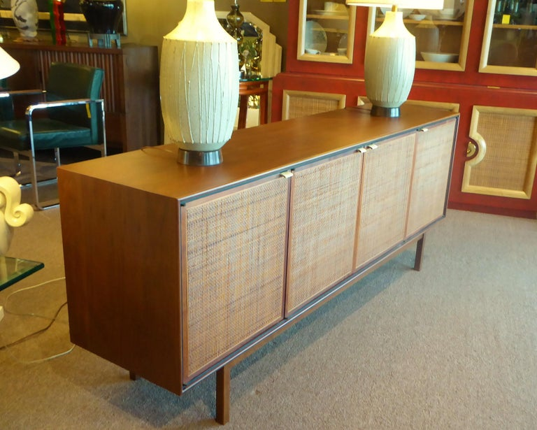 American Early 1960s Founders Furniture Florence Knoll Style Walnut Credenza For Sale