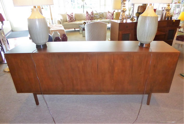 Early 1960s Founders Furniture Florence Knoll Style Walnut Credenza For Sale 1