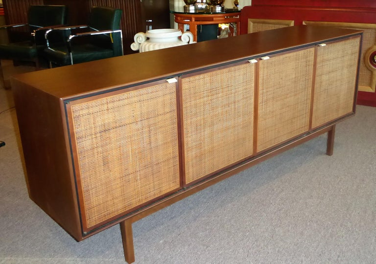 Early 1960s Founders Furniture Florence Knoll Style Walnut Credenza For Sale 2